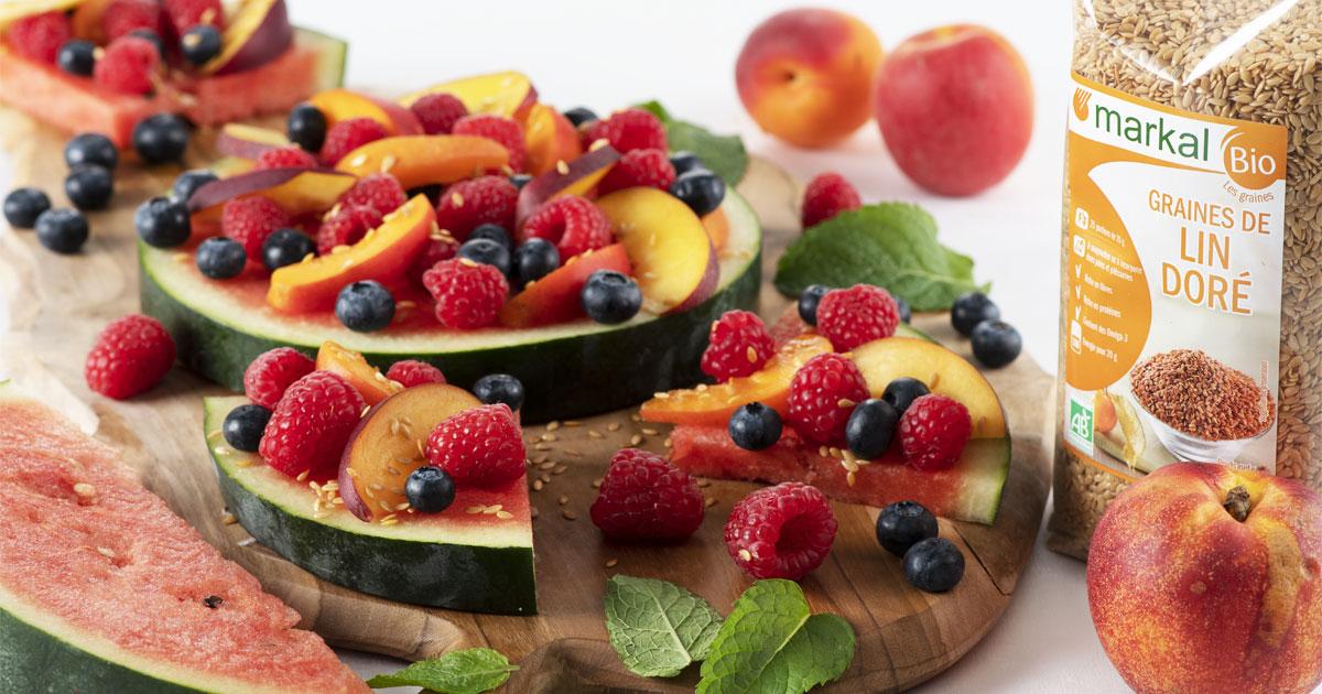 Tarte pastèque aux fruits