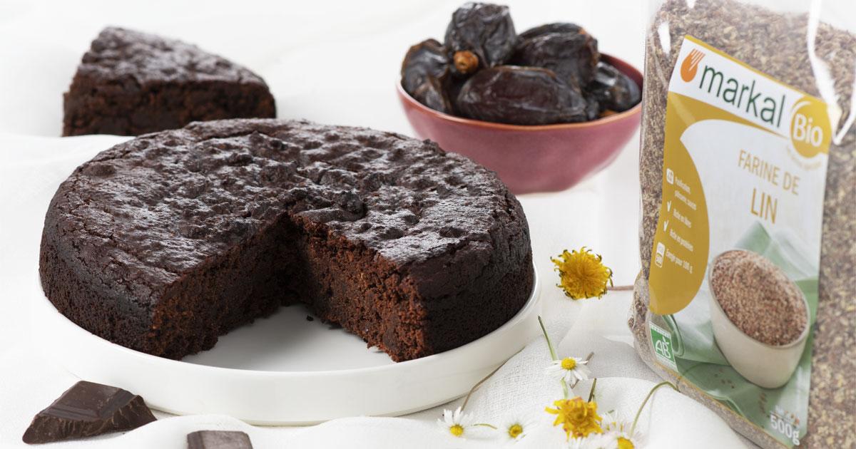 Gâteau fondant au chocolat et dattes Medjool