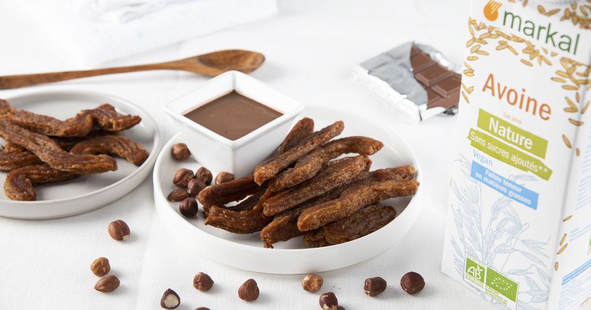 Churros et sa sauce au chocolat